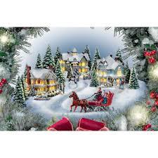 Thomas Kinkade Christmas Tree For Sale by The Thomas Kinkade Illuminated Holiday Wreath Hammacher Schlemmer