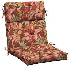 Hampton Bay Patio Chair Cushions by Hampton Bay Chili Tropical Blossom Outdoor Dining Chair Cushion