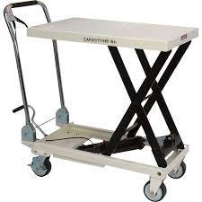 jet scissor lift table u2014 660 lb capacity model slt 660f hand