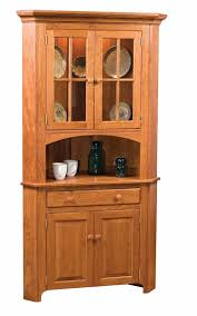 Corner Hutch Cabinet Shaker Corner China Cabinet Town U0026 Country Furniture
