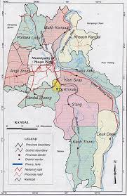 Map Of Cambodia Kandal Province Map 2003 Cambodia
