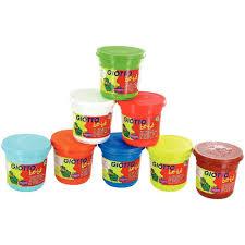 8 Pots by Schoolpack De 8 Pots De 220g De Pâte à Jouer Giotto Bébé