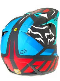 blue motocross helmet fox grey red 2017 v3 seca mx helmet fox freestylextreme