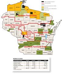Wisconsin Counties Map wisconsin deer forecast for 2016 game u0026 fish