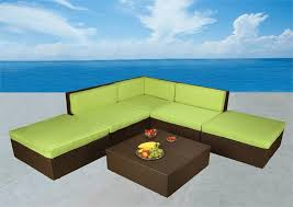 Bellagio Patio Furniture Bellagio 6 Piece Outdoor Wicker Sectional Sofa Set Las Vegas Patio