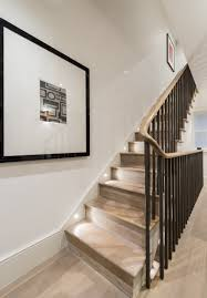 flush modern baseboard with reveal and led tape light set on a