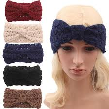 women s headbands new women s fashion wool buttons crochet headband knit hair band