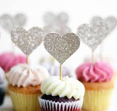 cupcake toppers handmade glitter lovehearts cupcake toppers by may contain glitter