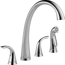 Brushed Nickel Single Handle Kitchen Faucet by Platinum Two Handle Kitchen Faucet Deck Mount Single Pull Out