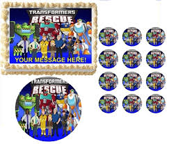transformers cake toppers transformers rescue bots all characters edible cake topper