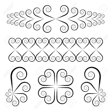 vector swirl ornaments royalty free cliparts vectors and stock