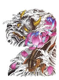 japanese demon tattoo flash designs top quality high resolution