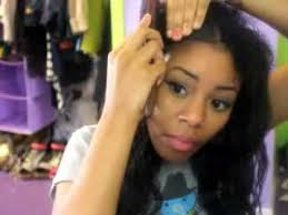 hair weave styles 2013 no edges how to blend natural hair into weave using no heat youtube