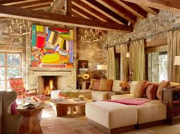 Ideas For Interior Decoration Living Room Rustic Interior Design Decorating Ideas Rustic