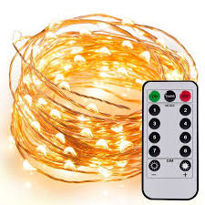 kohree 60 leds string lights with remote 20ft 6m thin