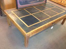 slate wood coffee table ideas collection coffee table with slate tiles and 2 drawers by