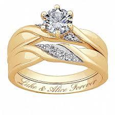 wedding ring sets genuine diamond brilliant cz wedding ring set 7116489 hsn