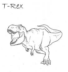 the stylish and also stunning tyrannosaurus rex coloring page