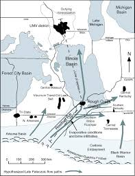 Illinois Mine Subsidence Map by Infiltration Of Late Palaeozoic Evaporative Brines In The Reelfoot