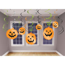 3x halloween party spider swirls hanging decorations 66cm long 2x