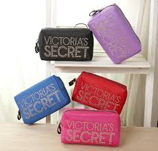 victoria 39 s secret orted color logo satin pouch cosmetic bag ready