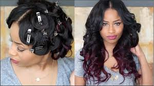 how to pin curl that hair youtube