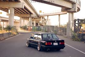 bmw e30 slammed e30 rear end slammed stephen sayer stanceworks autos deutscher
