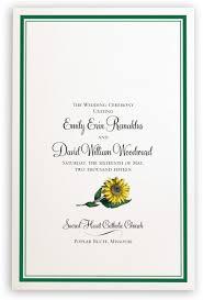 Wedding Bulletins Sunflower Wedding Program Create Ceremony Programs U0026 Church