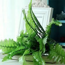 home decor plastic imitation fern grass 7 fork green grass