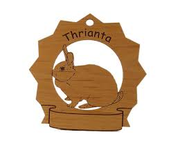 thrianta rabbit personalized wood ornament wood ornaments
