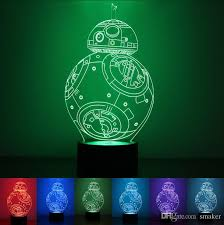 button type 3d light usb powered creative colorful led lights