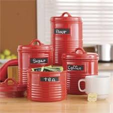 red kitchen canisters kitchen red kitchen canister made of ceramic and can shaped for