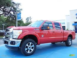 2013 vermillion red ford f250 super duty lariat crew cab 4x4