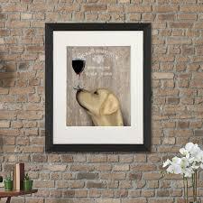 Home Decor Au by Yellow Labrador Print Print Dog Au Vin Wine Print By Fabfunky