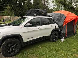 jeep tent inside 5 day road trip with my handy dandy new jeep tent camping