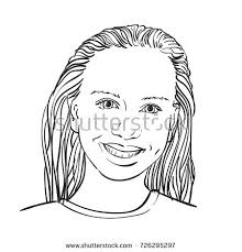 smile baby face portrait vector sketch stock vector 571414018