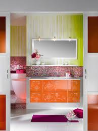 bathroom patterned glossy cabinet and sink combined with mosaic