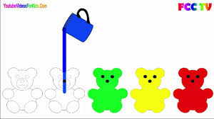 funny colors gummy bear drawing funny video for kids to learn colors