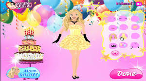 barbie birthday party game fun dress up games for girls youtube