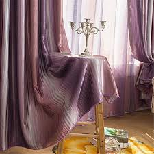 Lavender Blackout Curtains Ffmode Gradient Stripes Blackout Drapes Curtains Grommet Top 42