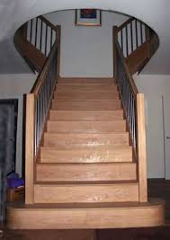 Landing Banister Curved Handrails Wooden Handrails Made To Order