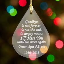 personalized goodbye is not forever memorial ornament