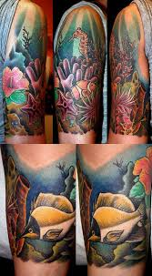 tropical underwater tattoos designs coral reef by mrtat2 cool