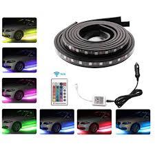 snagshout car led underglow strip light minger 4pcs underbody