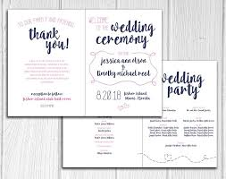 bi fold wedding program 32 best bi fold wedding programs images on wedding