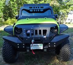 green jeep 2016 rubicon hyper green fab fours grumper custom built