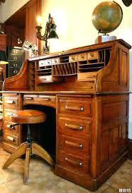 bureau standard bureau bois massif ancien bureau a cylindre de type dos dane vers