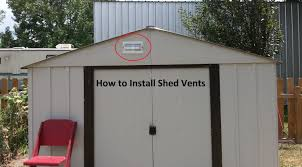 how to vent a shed diy step by step youtube