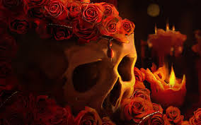 halloween background facebook red roses skull wallpapers http hdwallpapersf com red roses