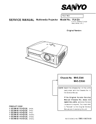 sanyo plv z3 l sanyo plv z3 sm service manual download schematics eeprom repair